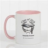 Graduation Cap Personalized Coffee Mug 11oz.- Pink - 5612-P