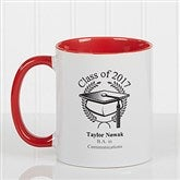 Graduation Cap Personalized Coffee Mug 11oz.- Red - 5612-R