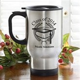 Graduation Cap Stainless Steel Travel Mug - 5612-S