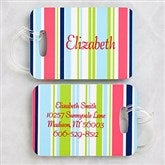 Sassy Stripe Luggage Tag Set - 5648