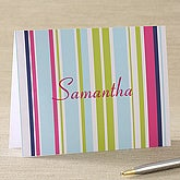 Preppy Stripe Personalized Notecards & Envelopes - 5654-N