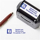 Preppy Stripe Rubber Address Stamper - 5654-S