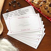 Baked With Love 3x5 Personalized Recipe Cards - 5677