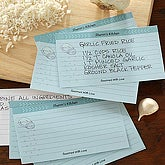 You Name It 3x5 Personalized Recipe Cards - 5689