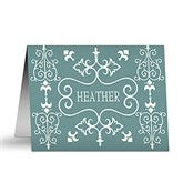 Damask Personalized Note Cards - 5754-N