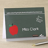 Chalkboard Teacher Note Cards & Envelopes - 5755-N