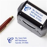 Interlocking Monogram Address Rubber Stamper - 5767-S