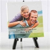 Two Hearts, One Love Personalized Photo Canvas Print- 5½ x 5½ - 5820-5x5
