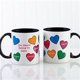 Our Hearts Belong To You Personalized Coffee Mug 11oz.- Black - 5837-B