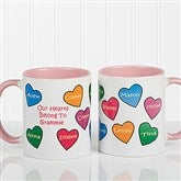 Our Hearts Belong To You Personalized Coffee Mug 11oz.- Pink - 5837-P