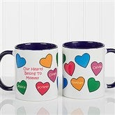 Our Hearts Belong To You Personalized Coffee Mug 11oz.- Blue - 5837-BL