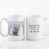 Personalized Photo Message Coffee Mug 15 oz.- White - 5841-L