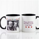 Personalized Photo Message Coffee Mug 11 oz.- Black - 5841-B