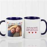 Personalized Photo Message Coffee Mug 11oz.- Blue - 5841-BL