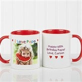 Personalized Photo Message Coffee Mug 11oz.- Red - 5841-R