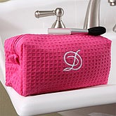 Embroidered Pink Make-up Bag - 5842-B