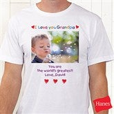 Loving Him Personalized Photo Hanes® Adult T-Shirt - 5844-CT