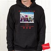 Loving Him Photo Black Adult Sweatshirt - 5844-BS