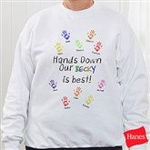 Hands Down Personalized Adult Sweatshirt - 5860S