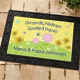 Spoiled Grandchildren Personalized Recycled Rubber Back Doormat - 5862