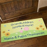 Spoiled Grandchildren Personalized Oversized Doormat- 24x48 - 5862-O