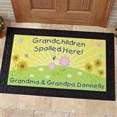Spoiled Grandchildren Personalized Doormat- 20x35 - 5862-M