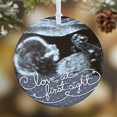 1-Sided Our Personalized Sonogram Photo Ornament - 5865-1