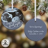 2-Sided Our Personalized Sonogram Photo Ornament- Small - 5865-2
