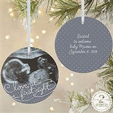2-Sided Our Personalized Sonogram Ornament- Large - 5865-2L