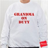 On Duty Personalized Sweatshirt - 5883SW