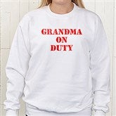 On Duty Personalized Sweatshirt - 5883SW