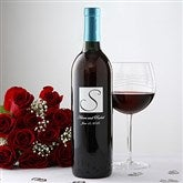 Personalized Wedding Wine Art-Initial - 5889D-I