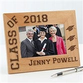 Hats Off Personalized Graduation Frame- 4 x 6 - 5903-S