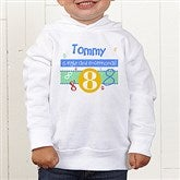 What's Your Number? Personalized Toddler Hooded Sweatshirt - 5918-CTHS