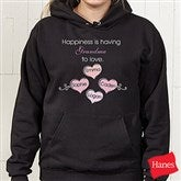 What Is Happiness? Personalized Black Hooded Sweatshirt - 5920-BS