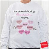 What Is Happiness? Personalized White Sweatshirt - 5920-S