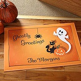Ghostly Greetings Personalized Doormat - 5940