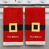 Personalized Santa Kitchen Towel Set - 5995