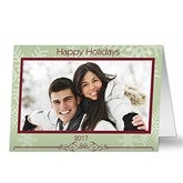 Snowflake Greetings HORIZONTAL Photo Cards & Envelopes - 6058-CH