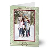 Snowflake Greetings Digital Photo Cards - Vertical - 6058-CV