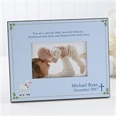 Christened With Faith Personalized Frame - 6110