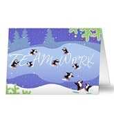 Teamwork Personalized Christmas Cards - 6171-C