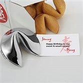 Fortunes of Longevity Silver Fortune Cookie - 6245