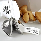 Wishes of Prosperity Silver Fortune Cookie - 6246