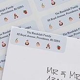 Winter Family Return Address Labels - 6260