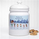 Winter Family Personalized Cookie Jar - 6278