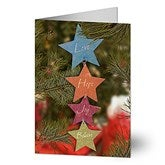 Love, Hope, Joy, Believe Personalized Christmas Cards - 6288-C