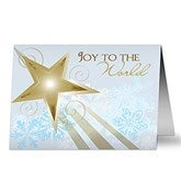 Joy To The World Personalized Christmas Cards - 6293-C