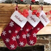 Winter Wonderland Personalized Snowflake Stocking - 6309