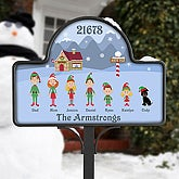 Winter Family - Yard Stake With Magnet - 6332-S